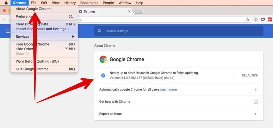 Google Chrome version