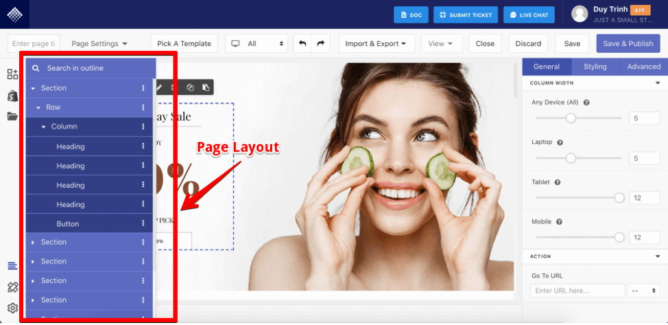 Use Page Outline to check overall layout of the page