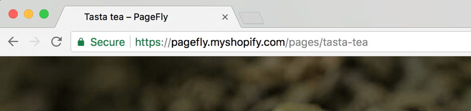 URL of a regular PageFly page