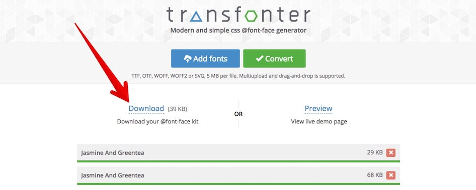 Download converted font