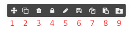 Functions on element toolbar