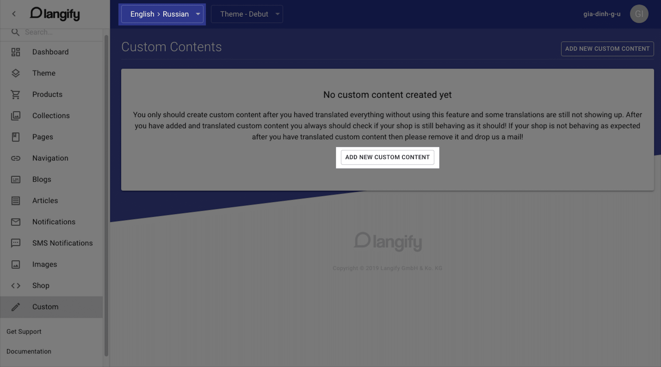 pagefly langify integration 3