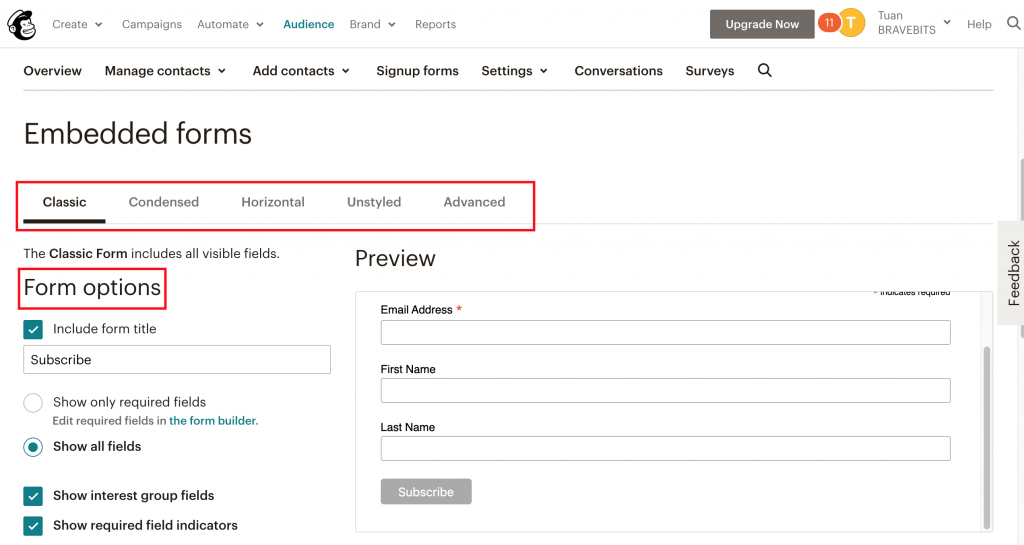 pagefly integrates mailchimp form 4