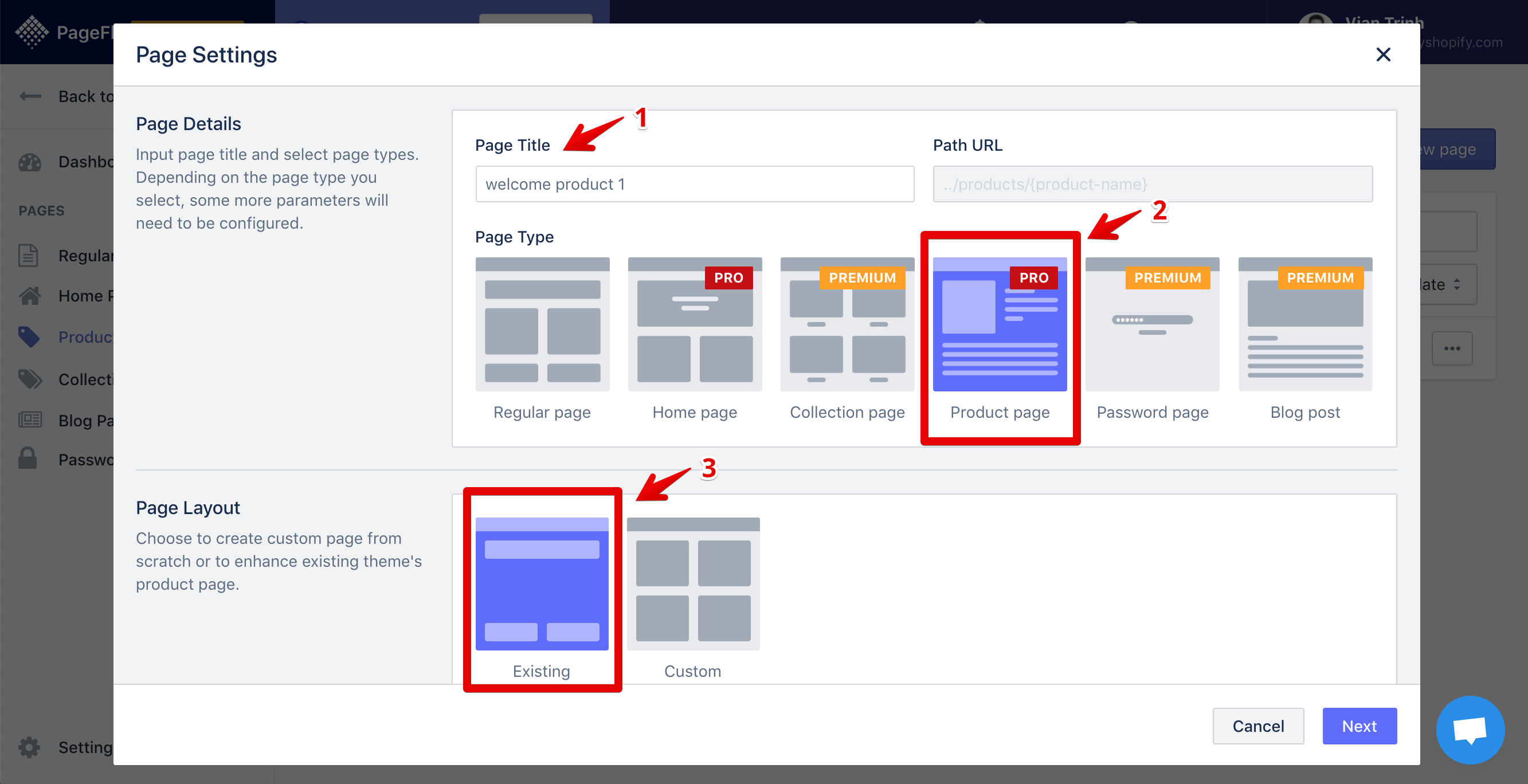 pagefly-create-product-page-existing-layout-01