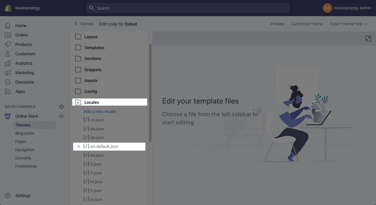 Shopify locales file