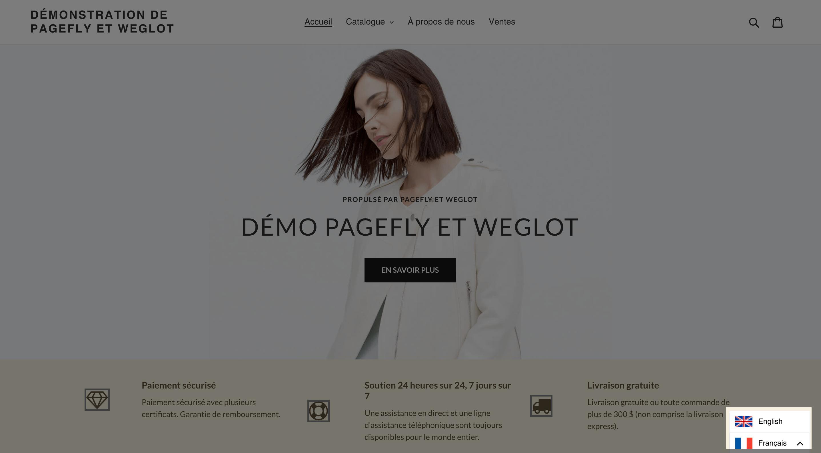 weglot translate pagefly
