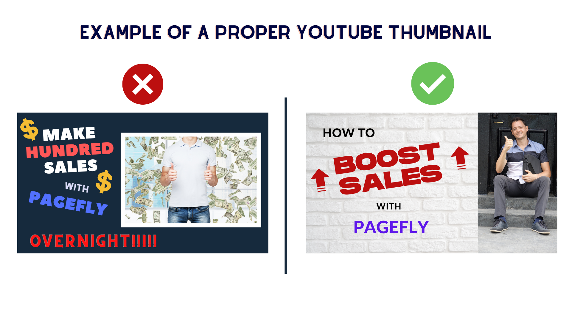 proper youtube thumbnail for PageFly affiliate video