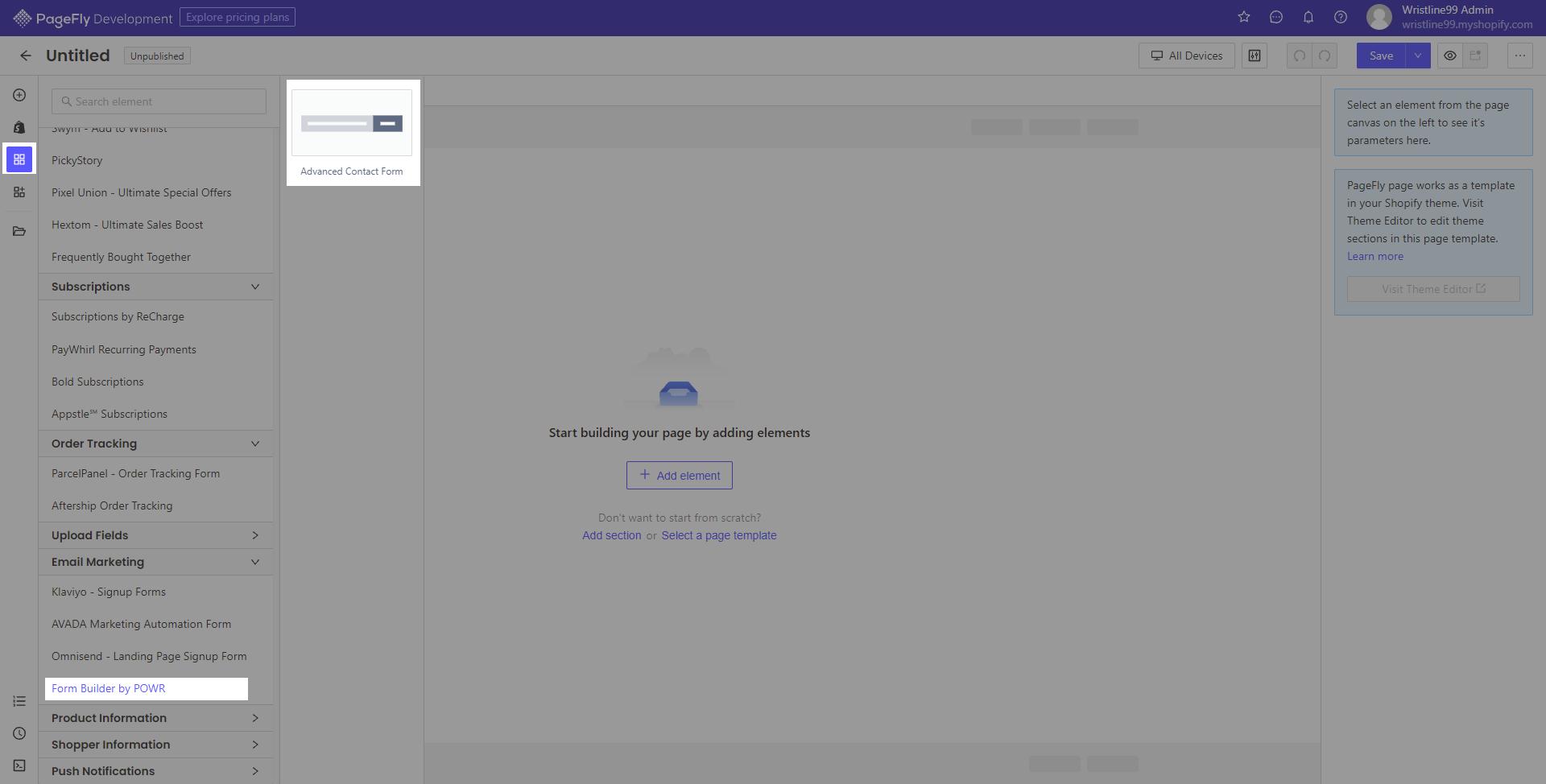 Access POWR form builder