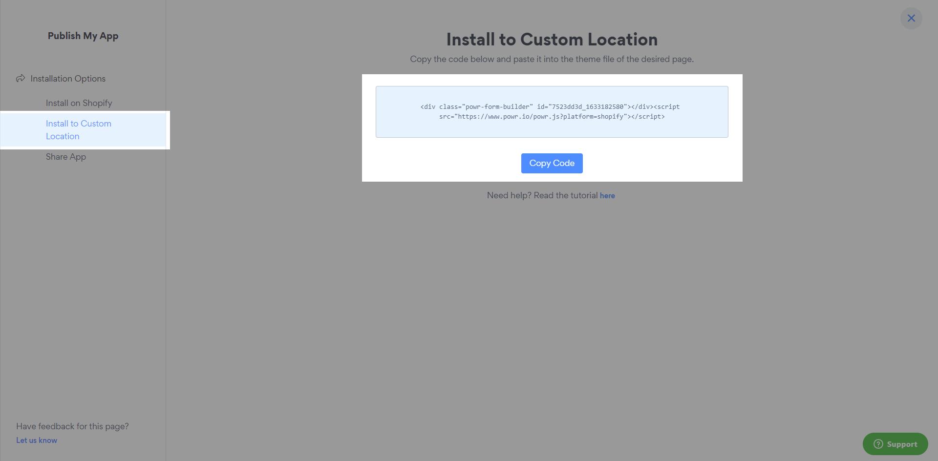 Configure POWR Form Builder App